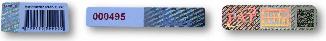 Barcode QR Samolepky_Holografické samolepky